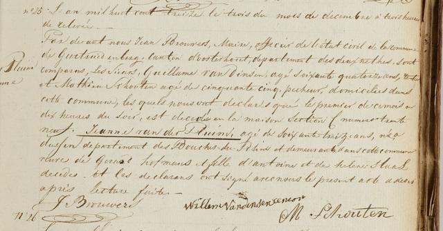 1813.12.01 Overlijden Johanna vd PluijmN
