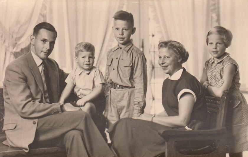 1954 Foto gezin