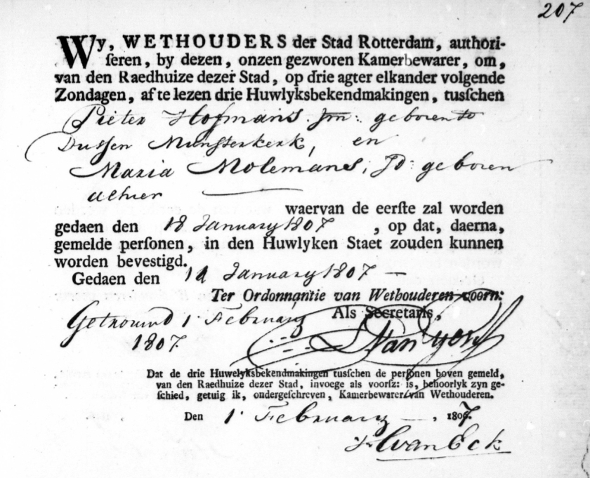 1807.01.18 Pieter II - Ondertrouw-A