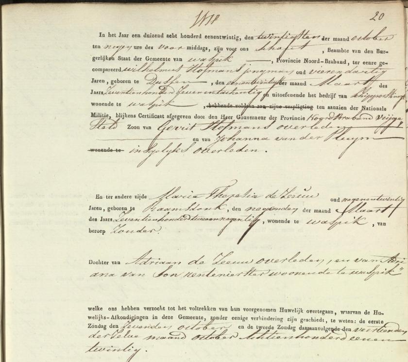 1821.10.20 - Huwelijksakte (1)-A