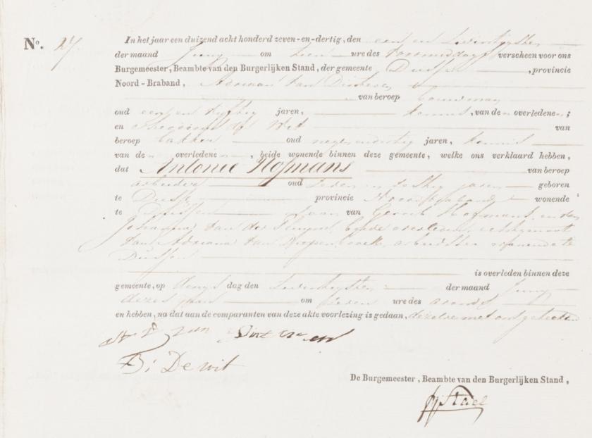1837.06.20 Antonie I Overlijden-A
