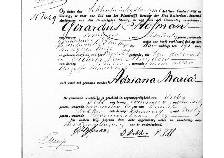 1845.04.26 Geboorte Adriana Maria
