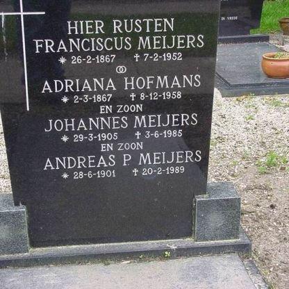 1958.05.08 Adriana Hofmans & Franciscus Meiers