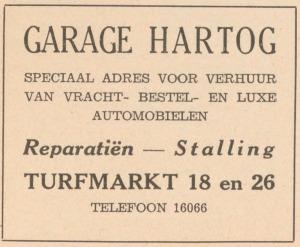 1936 Adresboek - Garage Hartog