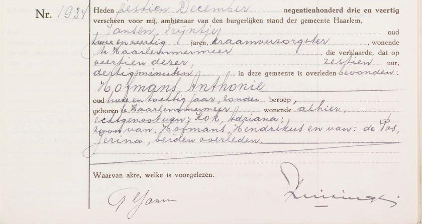 1943.12.14 Overlijden Anthonie-A