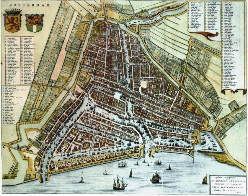 1635 Kaart Rotterdam Bleau