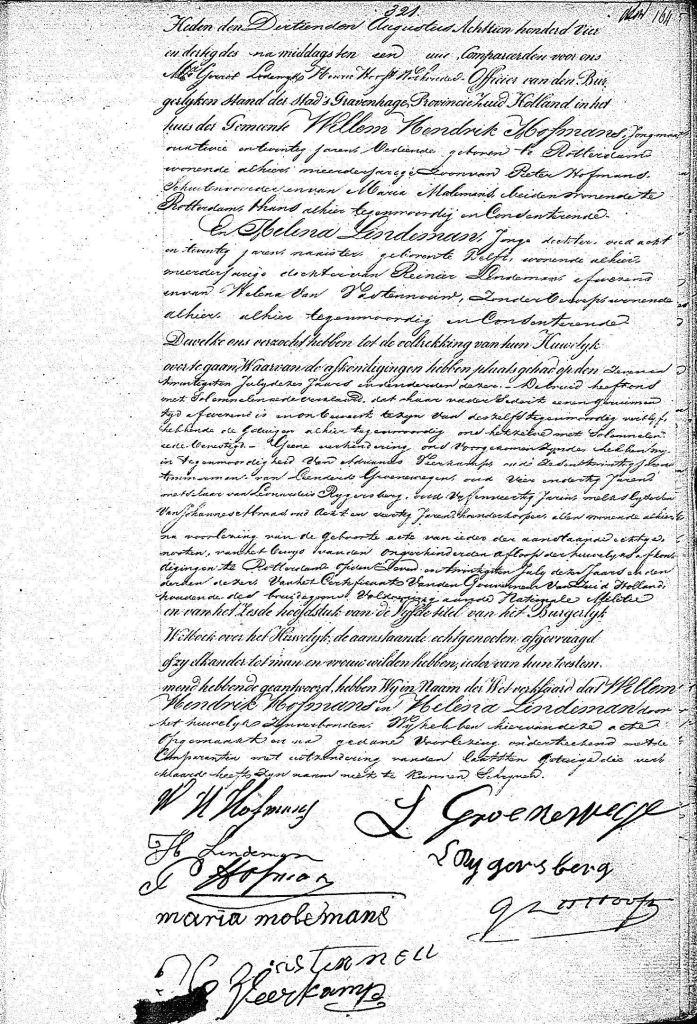 1834.08.13 Huwelijk BS Hofmans-Lindeman-A
