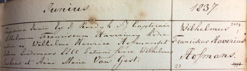 1837.06.30 Doop Wilhelmus Franciscus Xaverius