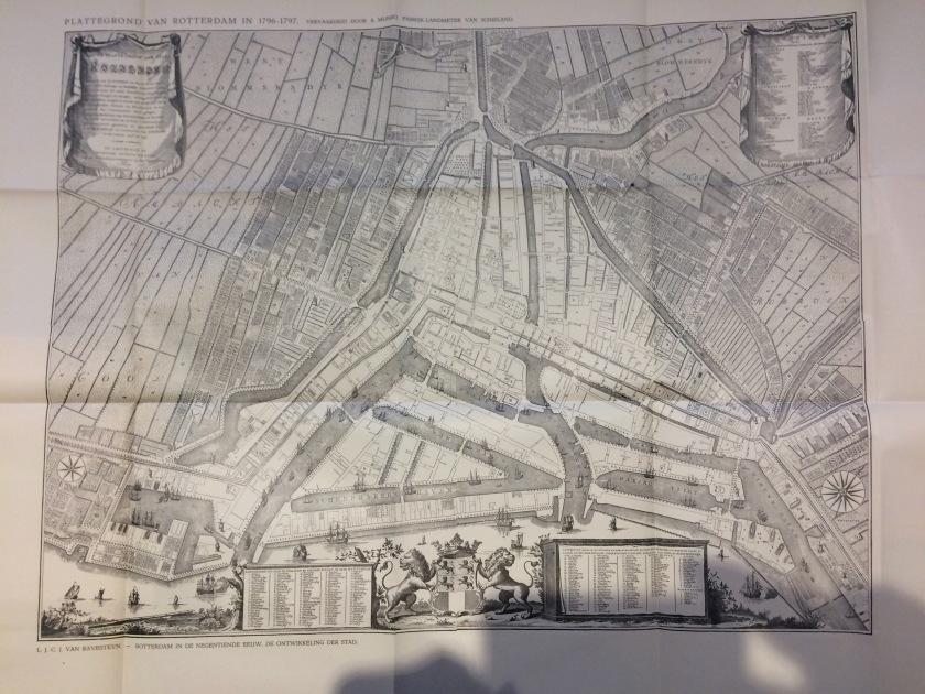 Plattegrond Rotterdam 1796