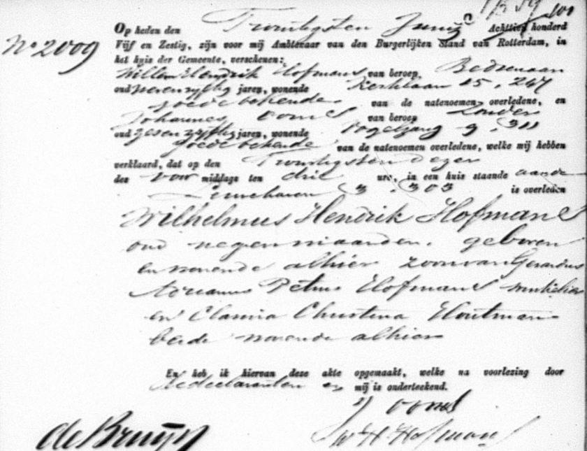 1865.06.20 Overlijden Wilhelmus Hendrikus