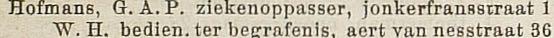 1880 adresboek - jonker fransstraat 1 - ziekenoppasser (detail)