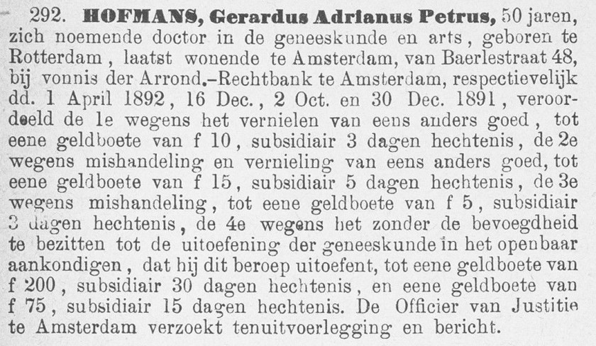 1893.01.26 - uitsnede Politieblad