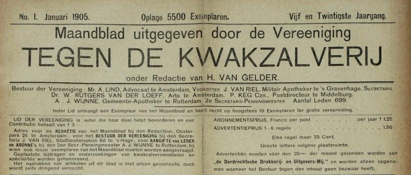 Kop Maandblad VtdK
